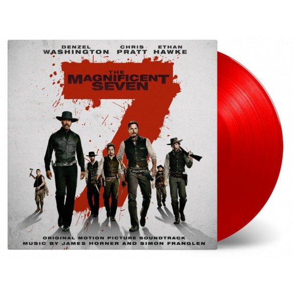 The Magnificent Seven Soundtrack (Numbered Limited Edition Red Vinyl) - Plak